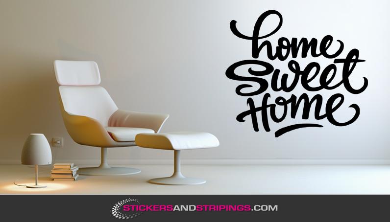 Muursticker Home Sweet Home.Muursticker Home Sweet Home M057 Stickersandstripings Com