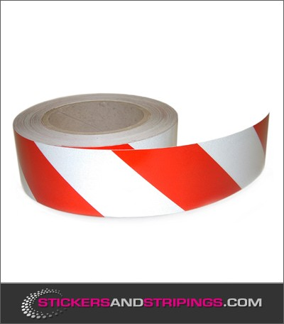 Reflective tape 50 mm red white (L)