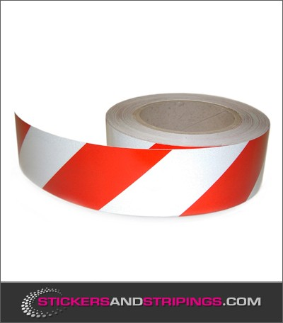 Reflective tape 50 mm red white (R)