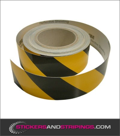 Reflective tape black yellow (L)
