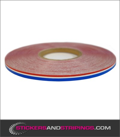 (M) Red - Bleu striping 7,5 mm