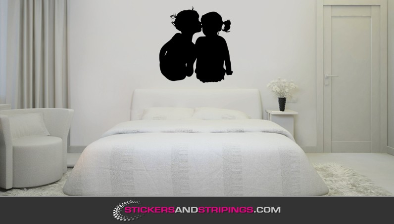 Muursticker jongen en meisje m086 - Meisjes slaapkamer deco ...