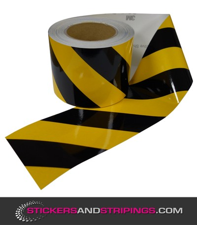 Reflective tape 100 mm Black / Yellow (L)