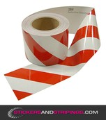 (V) Reflective tape 100 mm red white (L)