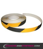 (Y) Antiskid striping 25 mm black / yellow