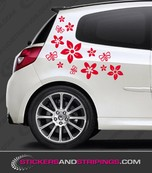 Car Flower and bees set (3555)