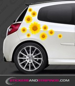 Car sunflower set (3557)