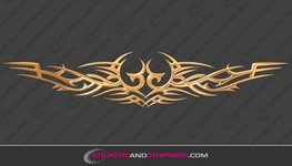3D Tribal Gold chrome (901)