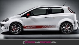 (C) Fiat Abarth striping set 14x175 cm